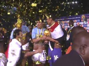 الاحتفالات فى الملعب بعد المباراة مصر وغانا
