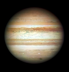 This undated handout image provided by NASA, released Wednesday, Sept. 9, 2009, taken by the refurbished Hubble Space Telescope, shows the planet Jupiter
