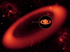 The Spitzer Space Telescope has discovered the biggest but never-before-seen ring around the planet Saturn, NASA's Jet Propulsion Laboratory announced