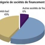 Part de chaque catégorie de sociétés de financement dans le total-actif