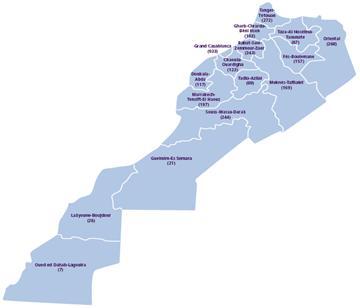 La distribution des guichets sur le territoire nationale