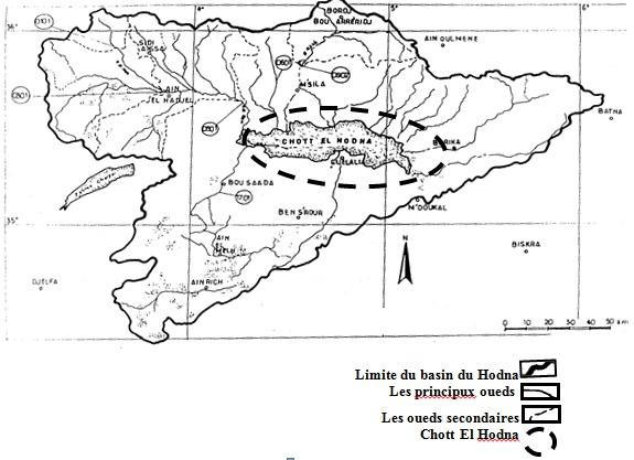 Hydrologie du Chott El Hodna