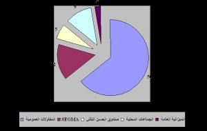 توزيع نسب الاستثمار العمومي سنة 2008